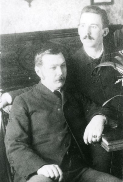 Arthur Conan Doyle with his younger brother
