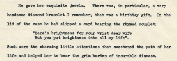 A typewritten page