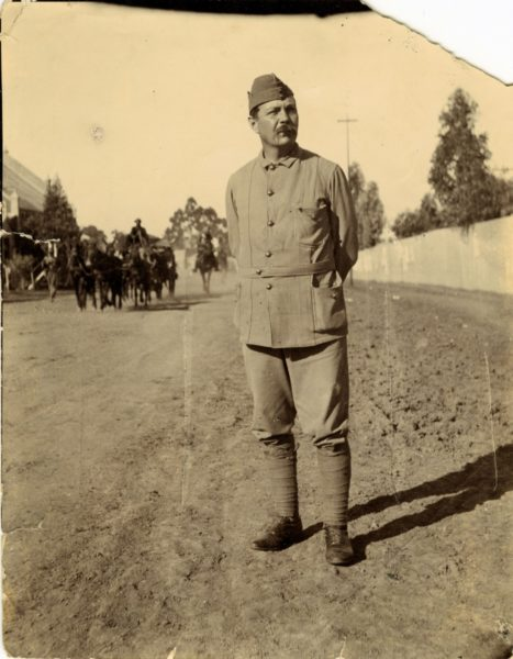 Conan Doyle in military uniform while in South Africa during the Boer War