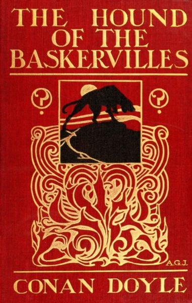 The 1902 cover to the first edition of The Hound of the Baskervilles