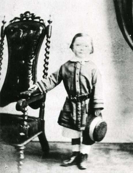 A portrait of a young Arthur Conan Doyle at the age of 4