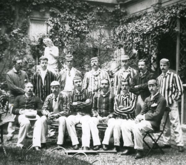 Arthur Conan Doyle pictured with the Norwood cricket team which toured Holland in 1891.